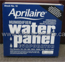 aprilaire humidifier filter water panel #10