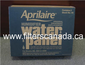 aprilaire humidifier filter water panel #45